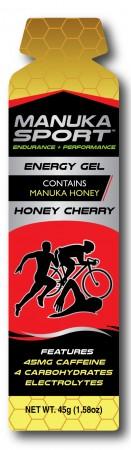 Manuka Sport Energy Gels 16 x 45g Honey Cherry Flavour with Caffeine