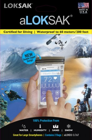 LOKSAK WATER PROOF INNER BAGS - LOKSAK PACK OF 2 NEW DOUBLE ZIPPER DESIGN 3.7 x 7