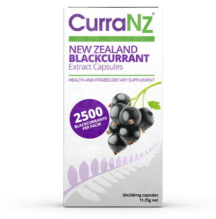 CurraNZ capsules -  made from 100% natural New Zealand blackcurrrant - 30 Capsules
