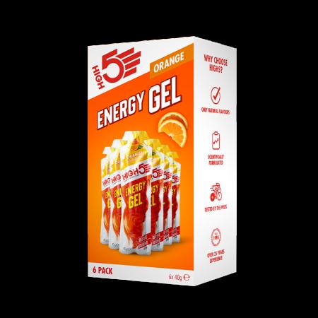 High5 Energy Gel 6 Pack Orange
