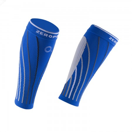 PRO RACING CALF SLEEVES BLUE AND GREY