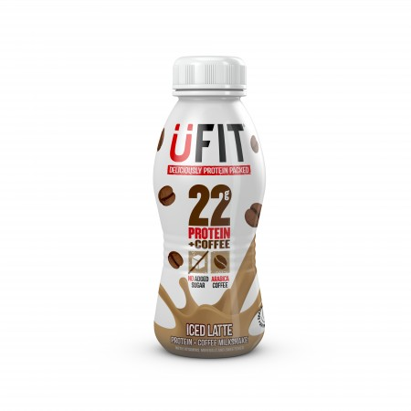 UFIT PROTEIN DRINK - Case 8 x 310ml bottles - Ready to drink Iced Latte