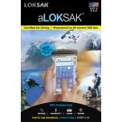 LOKSAK WATER PROOF INNER BAGS - LOKSAK PACK OF 2 NEW DOUBLE ZIPPER DESIGN 3.7 x 7