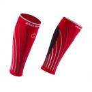 PRO RACING CALF SLEEVES RED AND GREY