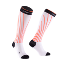 NEW! PRO RACING COMPRESSION SOCKS WHITE AND DEVILS ORANGE