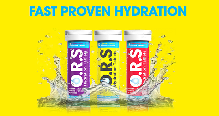 O.R.S hydration banner